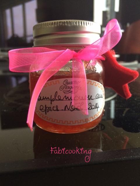 Marmelade aux pamplemousseet épice de carole