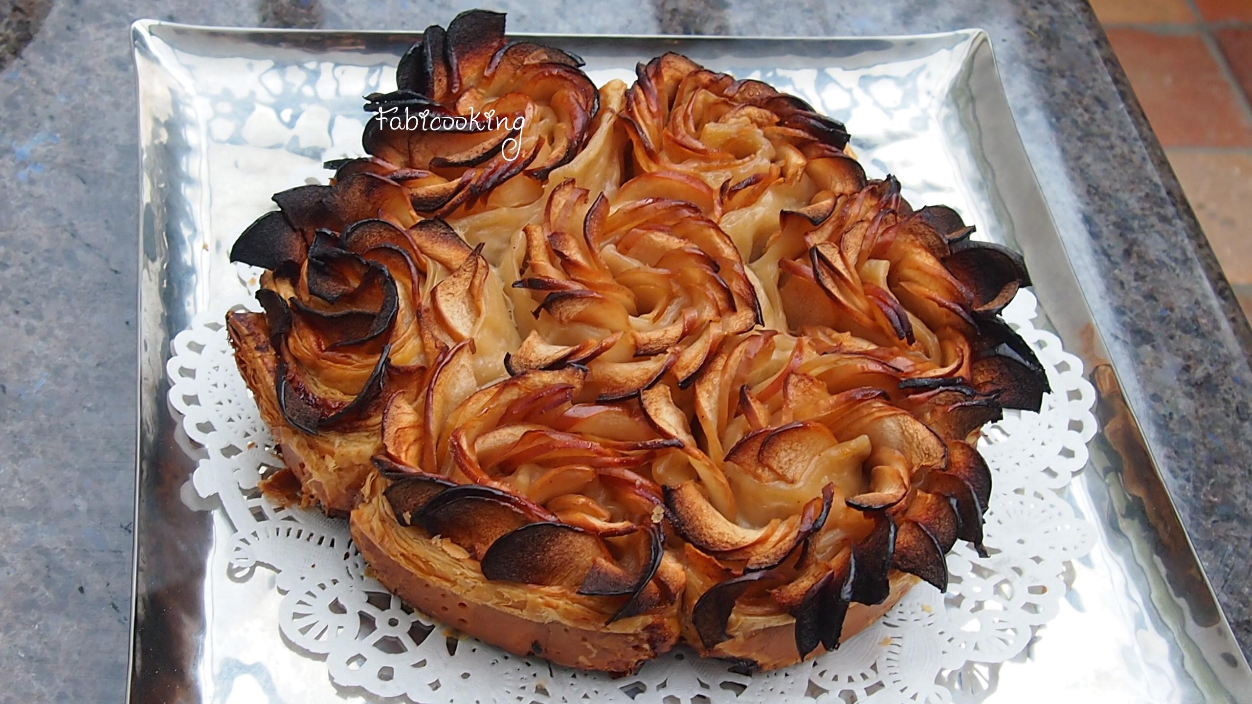 Tarte aux pommes comme une fleur fabicooking - Tarte soleil aux pommes ...