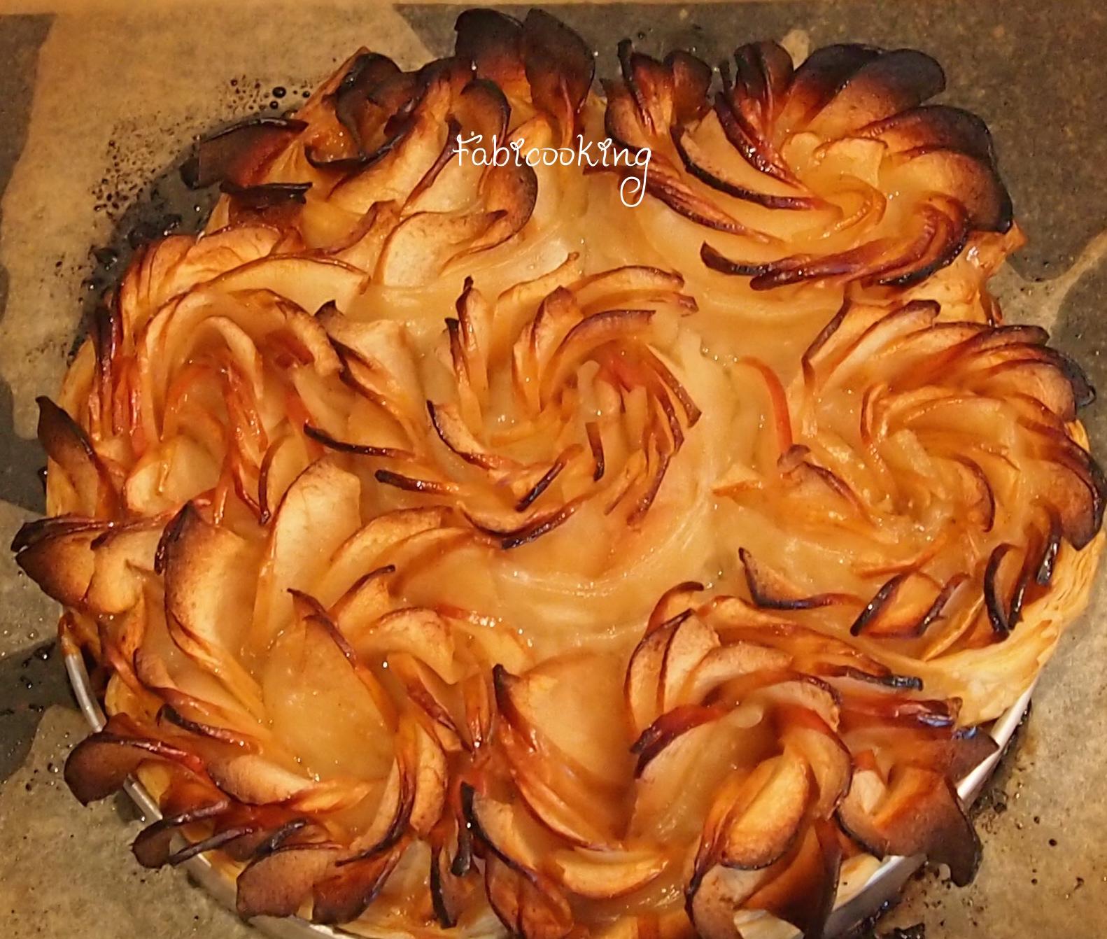 Tarte Aux Pommes Comme Une Fleur Fabicooking
