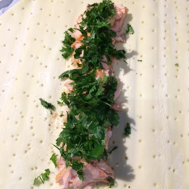 Tresse poireau saumon