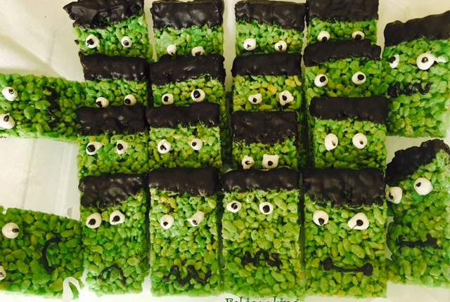 Halloween Frankenstein Rice Krispies
