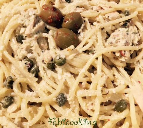 Recette rapide de spaghetti au thon et câpres