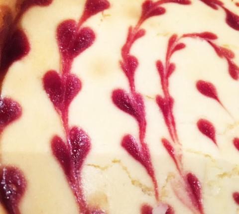 Cheesecake framboise et chocolat blanc