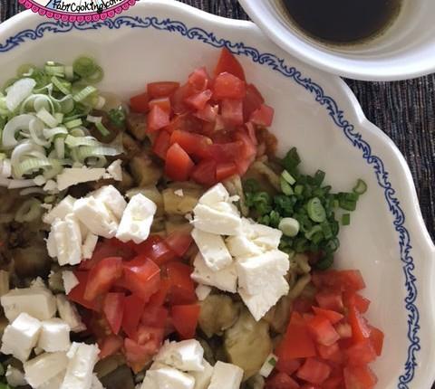 Salade aubergine et féta