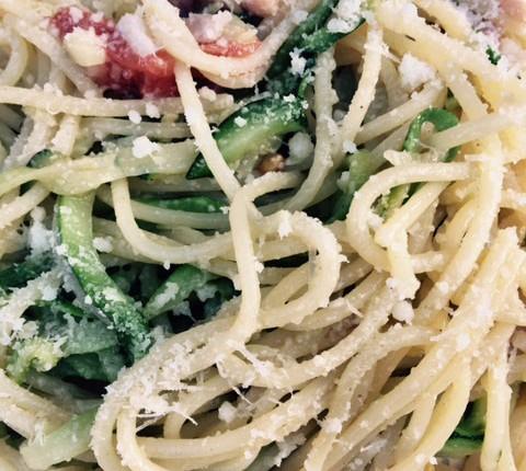 Spaghettis aux courgettes