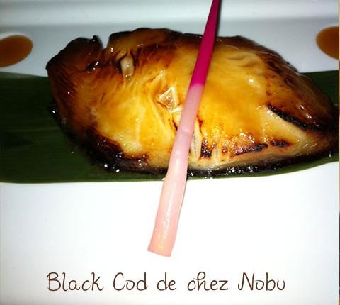 Black cod mariné façon Nobu