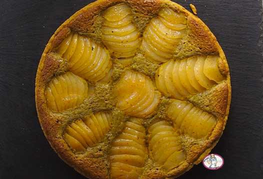 Tarte poires et crème de pistache