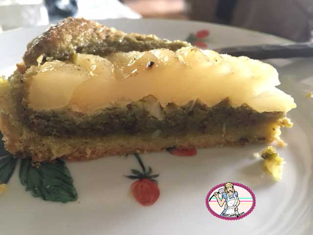 Tarte poires et crème de pistache façon Bourdaloue