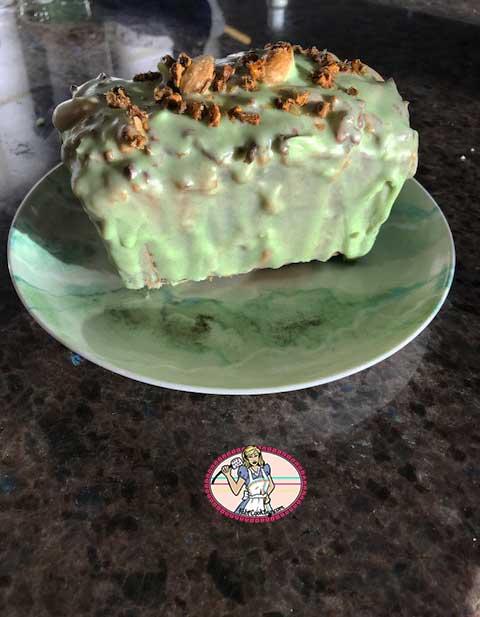Cake caramel, pistache, amande de Michalak