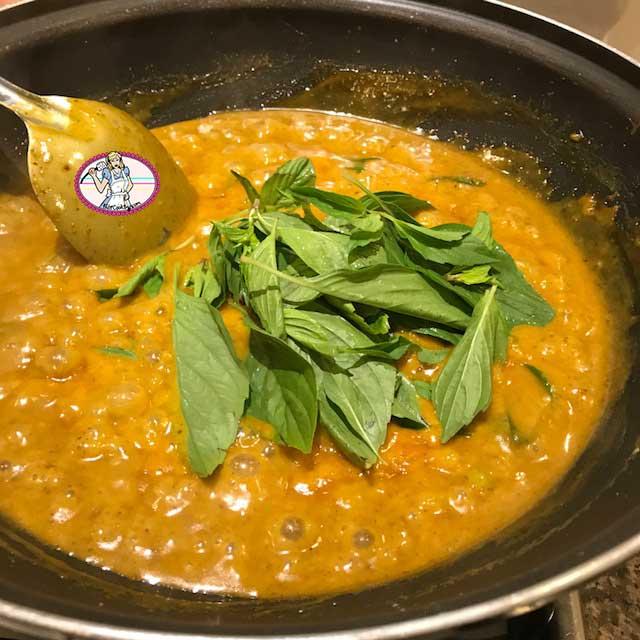 Curry panang aux crevettes
