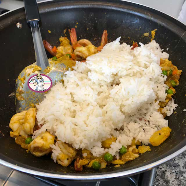 Riz frit l 39 ananas et crevettes fabicooking - Peut on donner du riz cuit aux oiseaux ...