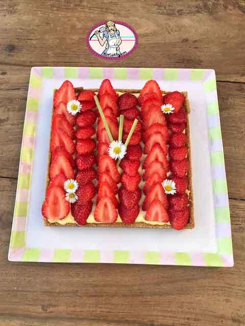 Tarte aux fraises et crème Magik citronnelle