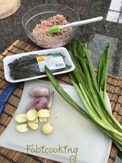 Canapés au Porc haché à la thaïlandaise