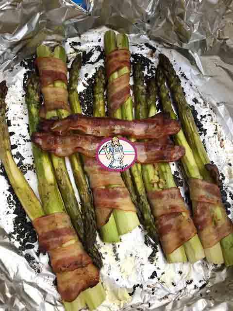 Asperges vertes au barbecue