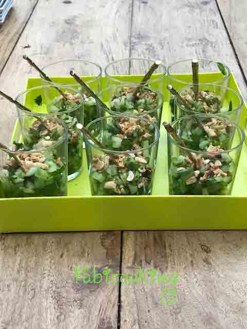 Salade de concombre à la Thaïe