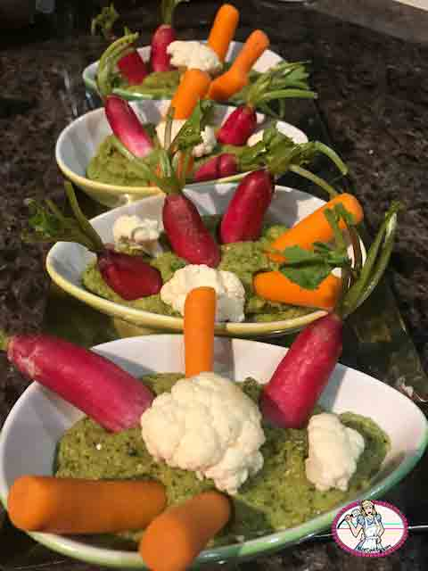Dip aux fèves et fromage frais de chèvre