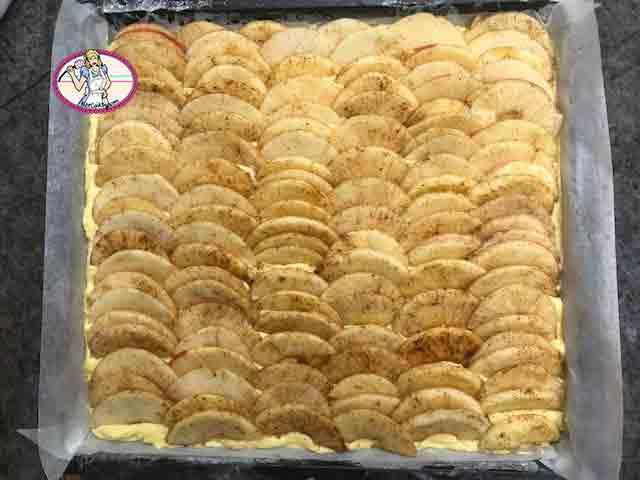 Gâteau aux pommes façon curable