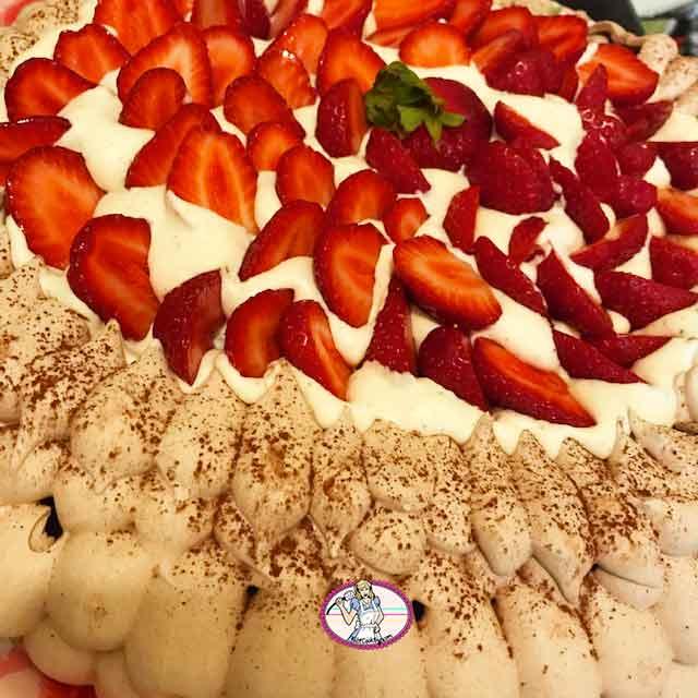 Pavlova chocolat fraises