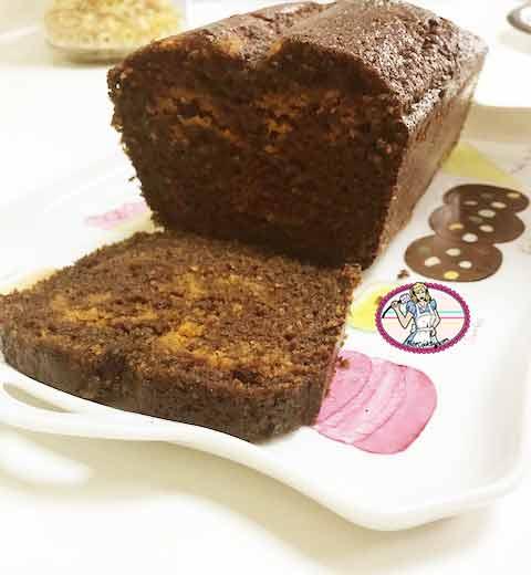 Cake marbré chocolat butternut