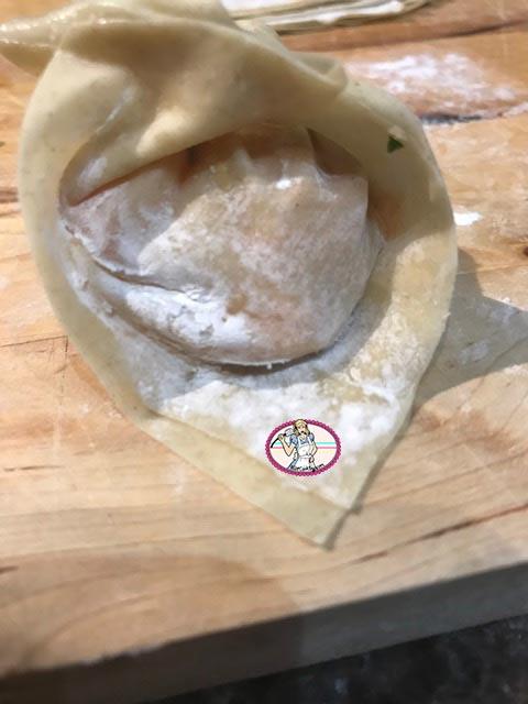 Ravioles crevette saumon