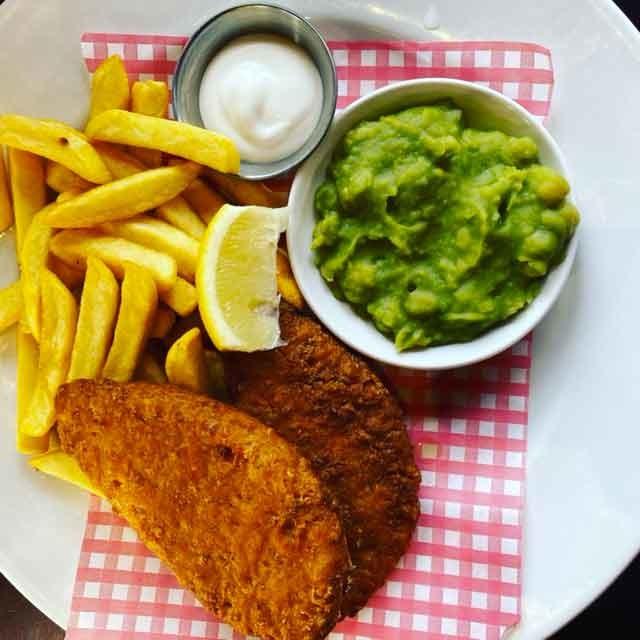 Fish ans chips vegan
