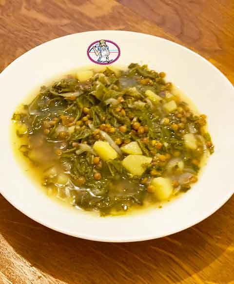 Adams bi hamod; soupe aux blettes, lentilles et citron