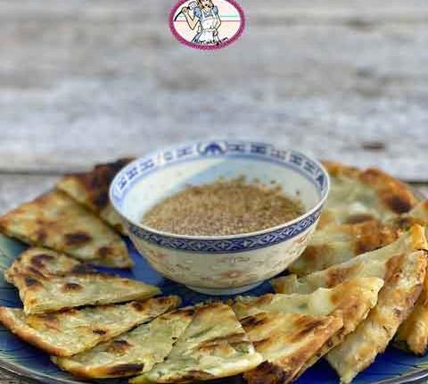 Pancakes chinois aux oignons verts vegan