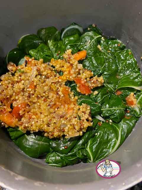 Blettes et quinoa