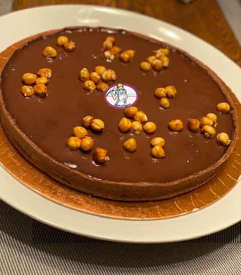 Tarte au chocolat et praliné