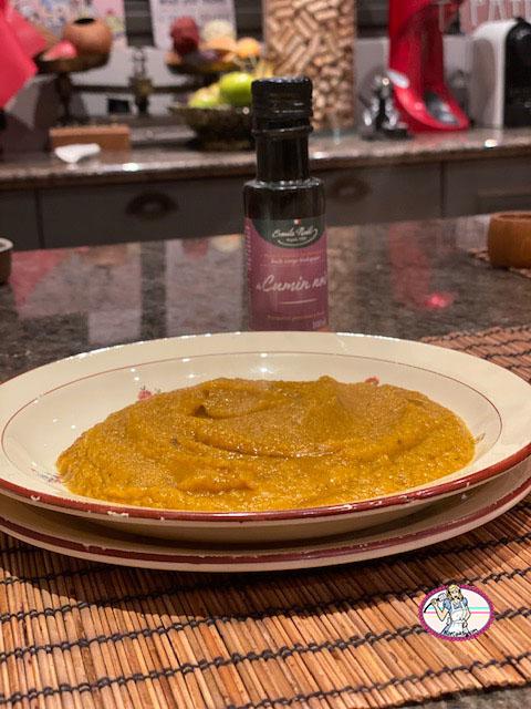 Potage au potimarron, panais et gingembre frais