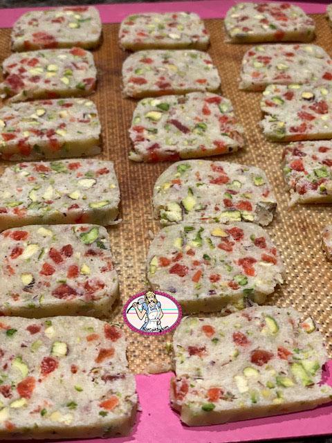 Shortbread pistache cranberry