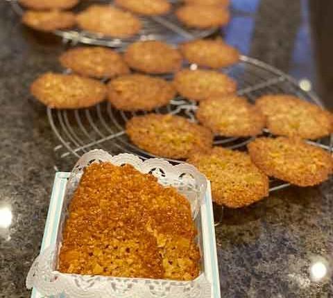 Florentins aux flocons d'avoine et gingembre