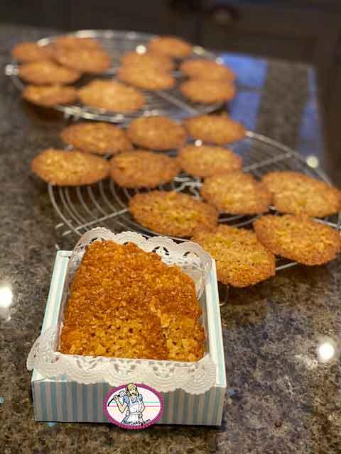 Florentins aux flocons d'avoine et gingembre confit