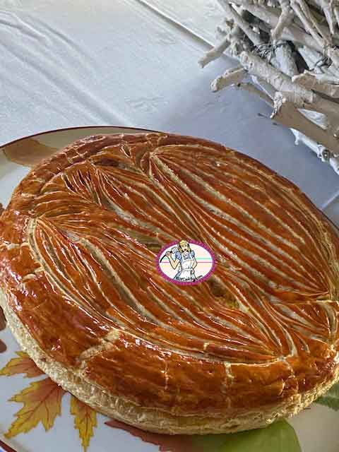 Galette Ispahan rose, litchi, framboise