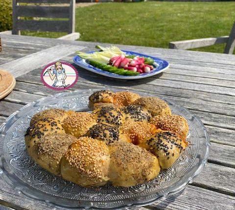 Bagels garnis à partager: Pull apart bagels