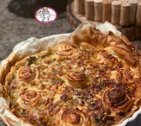 Tarte rapide courgette poireau et gorgonzola