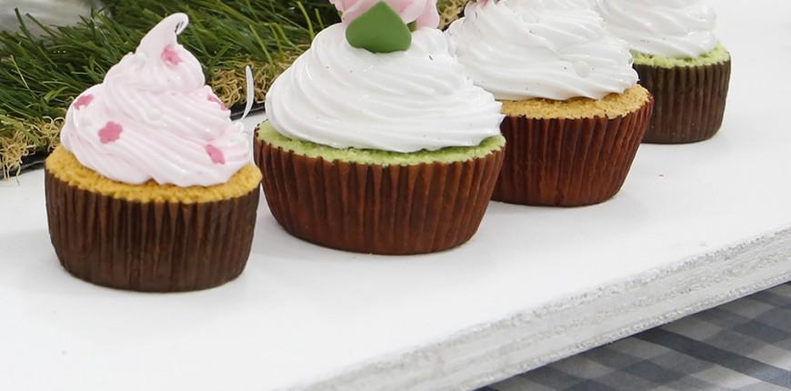 Cupcake vanille barbe à papa