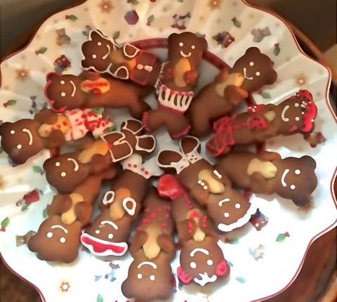 Gingerbread cookies , biscuits pain d'épices