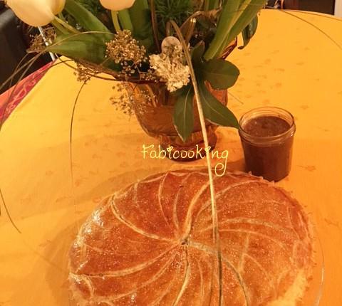 Galette des rois crème d'amande et praliné pécan