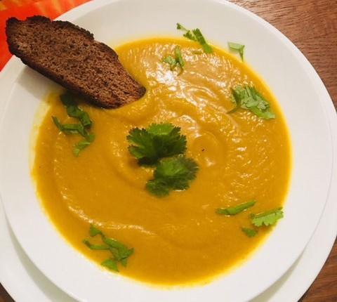 Velouté de potiron au curry