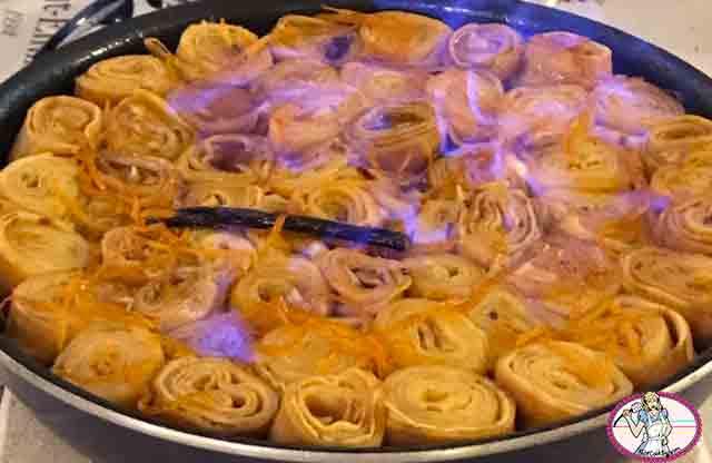 Crêpes Suzette en gâteau