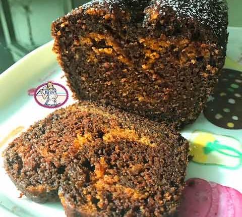 Cake marbré chocolat noir et butternut