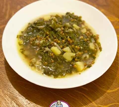 Adass bi hamod, soupe blettes et lentilles