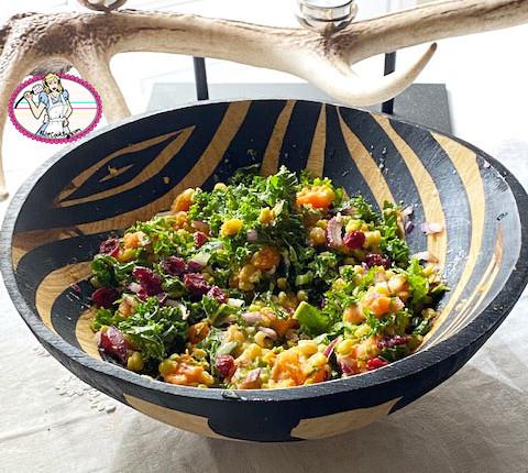 Salade de patate douce et pois cassés