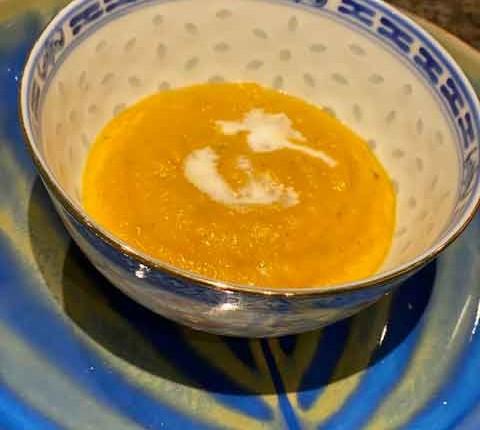 Velouté de butternut au lait de coco